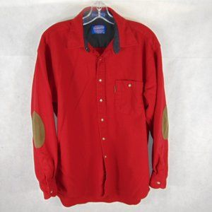 Pendelton 100% Wool Elbow Patch Trail Shirt sz L